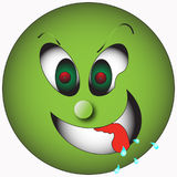 Desire. Green smiley showing a strong desire to stock illustration