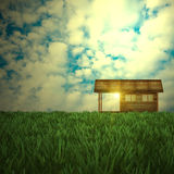 Desire house. For adv or others purpose use Royalty Free Stock Images