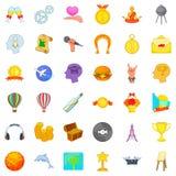 Desire icons set, cartoon style. Desire icons set. Cartoon set of 36 desire vector icons for web isolated on white background Stock Photos