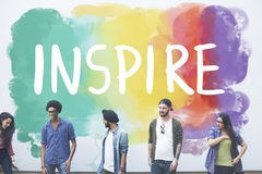 Desire Inspire Goals Follow Your drömmer begrepp royaltyfri fotografi