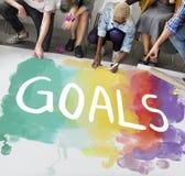 Desire Inspire Goals Follow Your drömmer begrepp arkivfoto