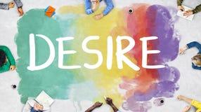 Desire Inspire Goals Follow Your drömmer begrepp royaltyfri bild