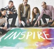Desire Inspire Goals Follow Your drömmer begrepp arkivbild