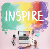 Desire Inspire Goals Follow Your Dreams Concept stock images