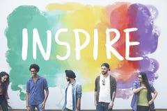 Desire Inspire Goals Follow Your träumt Konzept lizenzfreie stockfotografie
