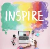 Desire Inspire Goals Follow Your träumt Konzept stockbilder