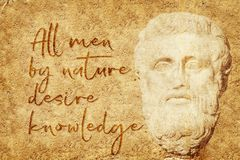Desire knowledge Aristotle Royalty Free Stock Images