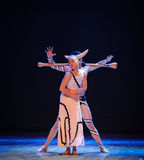 The desire of tangled-Errand into the maze-Modern dance-choreographer Martha Graham. In December 19, 2014, Shi Feifei the dancer dance work session held in the Royalty Free Stock Photos