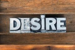 Desire word tray Stock Photos