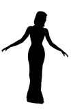 Desired silhouette Stock Photography