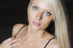 Desiring Blue Eyes Stock Photo