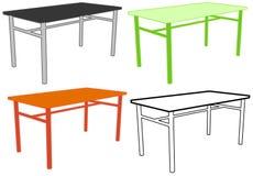 Desk. Simple desk vector design element, several color variants Royalty Free Stock Images