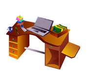 Desk. With standart office tools Stock Photos