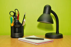 Desk accessories Royalty Free Stock Images
