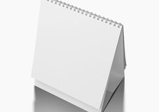 Desk Blank Calendar. On white Stock Photo