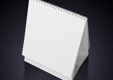 Desk Blank Calendar. On white Royalty Free Stock Images