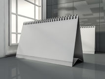 Desk Blank Calendar in the modern interior. 3D. Rendering Royalty Free Stock Image