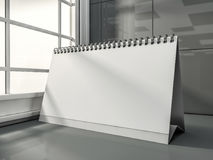 Desk Blank Calendar in the modern interior. 3D. Rendering Royalty Free Stock Photos