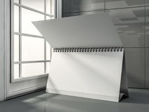 Desk Blank Calendar in the modern interior. 3D. Rendering Stock Photo