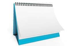 Desk Blank Calendar Stock Photography