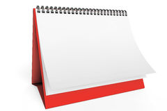Desk Blank Calendar Stock Photos