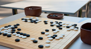 Desk for board game Go Stock Image