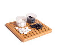 Desk for board game Go Royalty Free Stock Photography