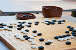 Desk for board game wei-Chi Royalty Free Stock Photos