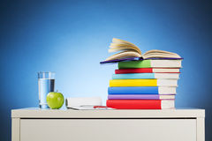 Desk with Books - School Concept Stock Photography