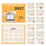 Desk business calendar 2017 year stock illustration