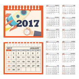 Desk business calendar 2017 year Royalty Free Stock Images