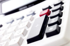 Desk calculator, keys Stock Photo