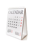 Desk calendar stock photography