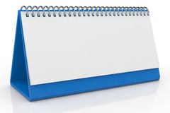 Desk calendar. One desk calendar with a blank sheet (3d render Stock Image