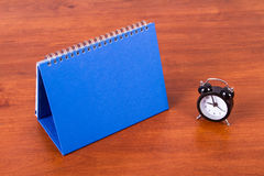 Desk Calendar and Alarm Clock Royalty Free Stock Photo