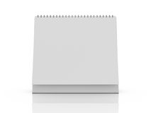 Desk Calendar. Blank desk calendar with reflection, front view, isolated on white background Royalty Free Stock Images