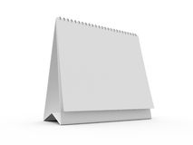 Desk Calendar. Blank standing paper desk calendar, isolated on white background Stock Images