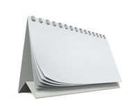 Desk Calendar Isolated. On white background. 3D render Stock Image