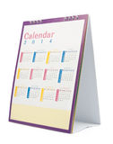 Desk Calendar 2014 Royalty Free Stock Photos