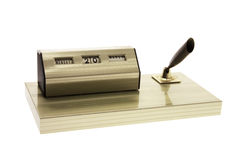 Desk Calendar and Pen Holder Stock Photography