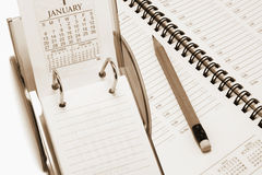 Desk Calendar and Planner Stock Images