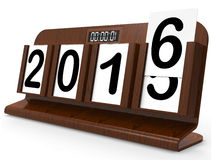 Desk Calendar Represents Year Two Thousand Sixteen. Desk Calendar Representing Year Two Thousand Sixteen Stock Images