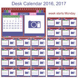 Desk calendar 2016 2017 Stock Images