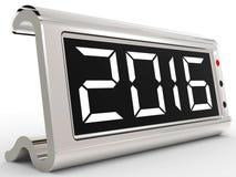 Desk Calendar Shows Year Two Thousand Sixteen. Desk Calendar Showing Year Two Thousand Sixteen Royalty Free Stock Photo
