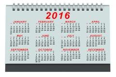 Desk Calendar 2016. On white background Stock Photo