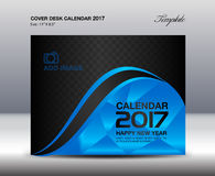 Desk Calendar for 2017 Year, Blue Cover Desk Calendar, book Royalty Free Stock Images