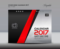 Desk Calendar for 2017 Year, white Cover Desk Calendar, leaflet. Cover design, book cover, booklet, vector, cover template, Brochure flyer, poster Stock Photos