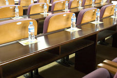 Desk and chair in meeting room Stock Photo