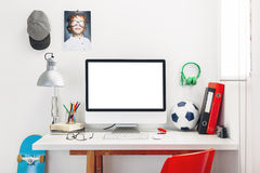 Desk in a child's bedroom. Royalty Free Stock Images