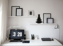 Desk contemporary designer Stock Photos